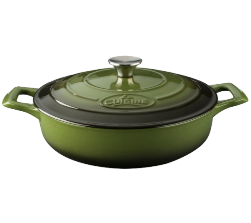 Low Casserole 28cm - GREEN