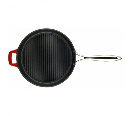 Grill Pan w/ss Handle 28cm - RED