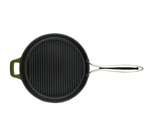 Grill Pan w/ss Handle 28cm - GREEN
